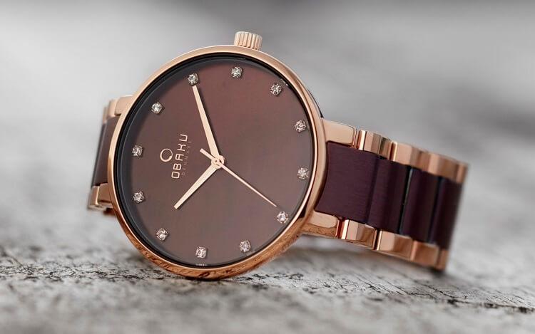 Đồng hồ mạ vạng đẹp mắt của hãng Obaku