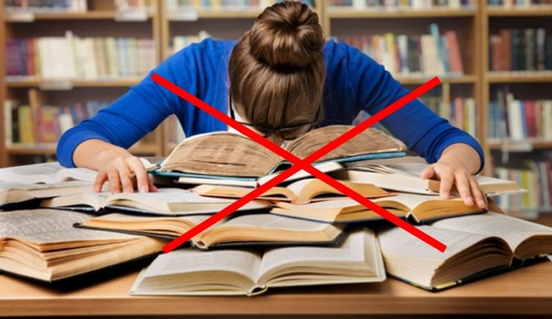 Đọc sách quá nhiều