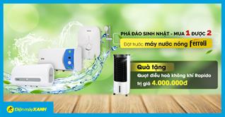 Mua máy nước nóng 3 triệu nhận ngay quà 4 triệu. Tại sao không?