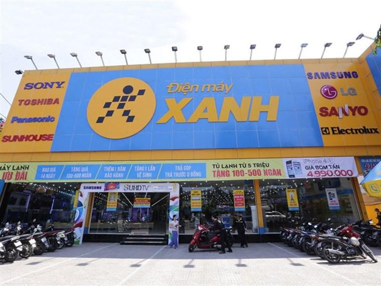 Siêu thị điện máy xanh tại G16/41 Trần Đại Nghĩa, Ấp 7, Xã Lê Minh Xuân, Huyện Bình Chánh, Thành phố Hồ Chí Minh. (Đối diện khu dân cư Amazing)