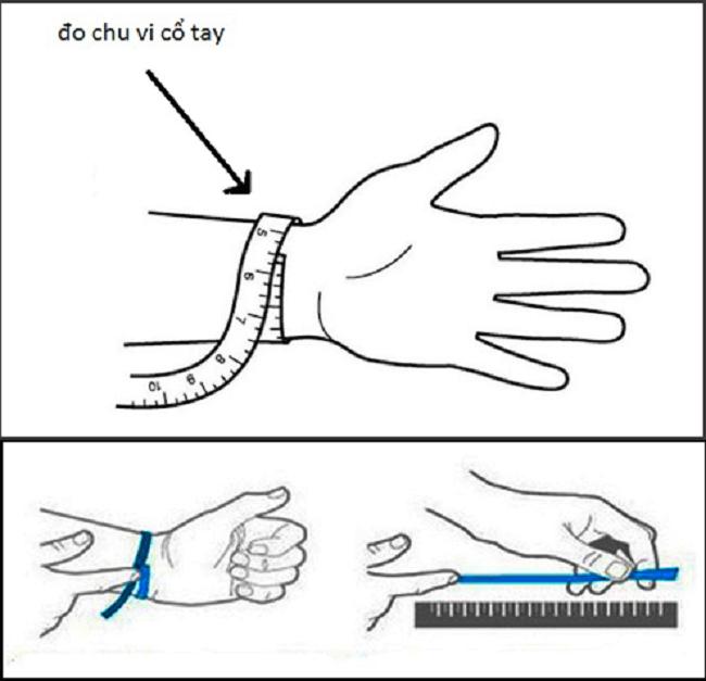 Cách đo chu vi cổ tay