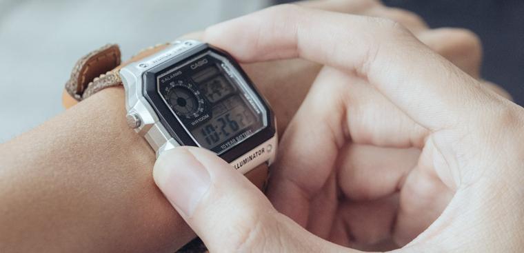 Cách chỉnh ngày giờ trên đồng hồ điện tử Casio 4 nút đơn giản
