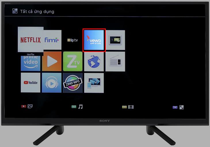 Thông báo chấm dứt VEWD TV Store trên Tivi Sony mẫu năm 2012