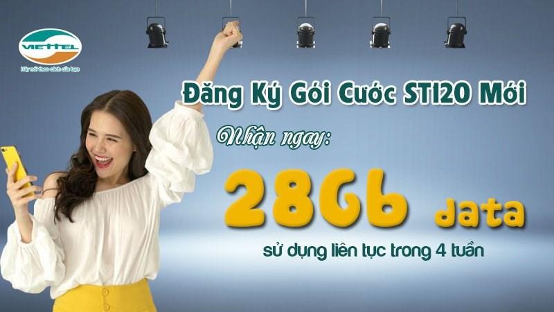 Cách đăng ký gói ST120 miễn phí 28 GB data tốc độ cao của Viettel