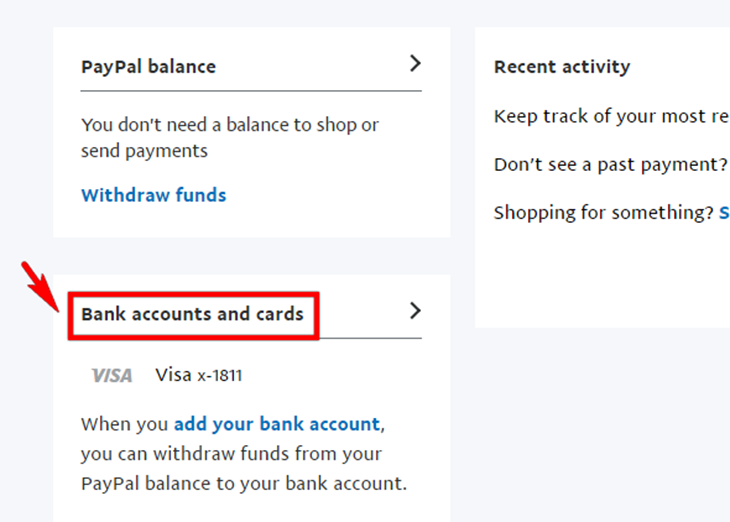 Vào trang quản lí tài khoản để thực hiện quá trình verify
