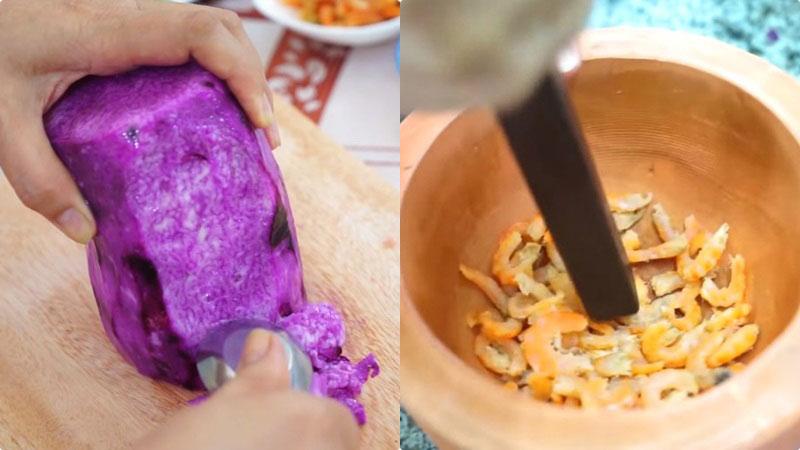 Canh khoai mỡ tôm khô ăn cả tô cũng chẳng no