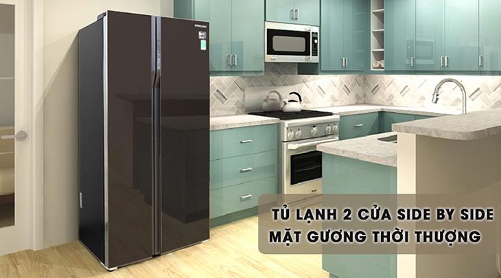 thay tủ lạnh mới có kiểu thiết kế đẹp hơn