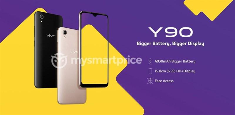 Vivo Y90 màn hình rộng, pin lớn lộ ảnh báo chí trước ngày ra mắt