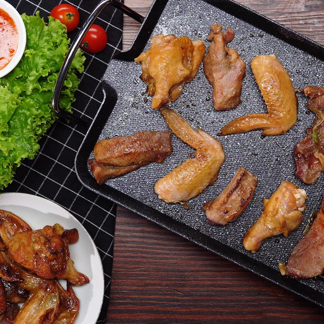 Bước 2 Nướng thịt Sốt ướp thịt nướng