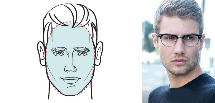 chọn mắt kính phù hợp với khuôn mặt thuôn dài