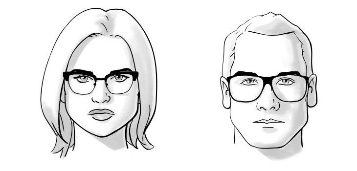 chọn mắt kính phù hợp với khuôn mặt tam giác