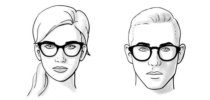 chọn mắt kính phù hợp với khuôn mặt trái tim