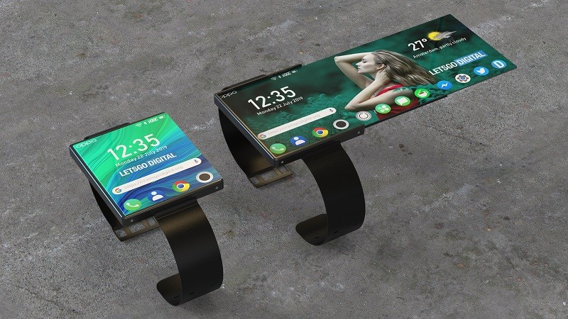 OPPO nộp bằng sáng chế cho một chiếc smartwatch có thể gập lại