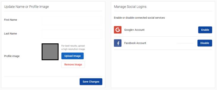 Thay đổi thông tin tài khoản với Account Settings