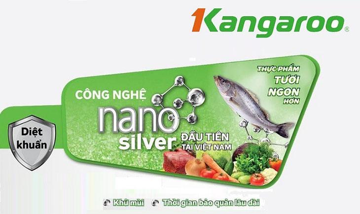 Nano Ag+ (nano bạc) trên tủ đông Kangaroo