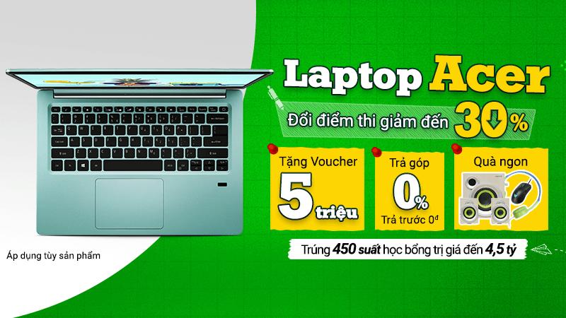 Laptop Acer giảm giá