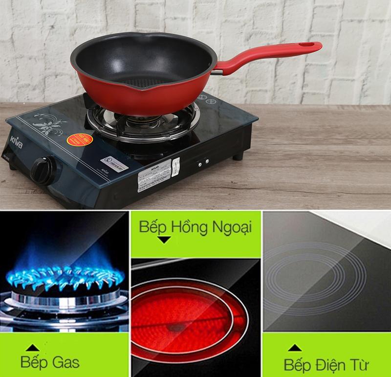 Sử dụng được cho nhiều loại bếp khác nhau như