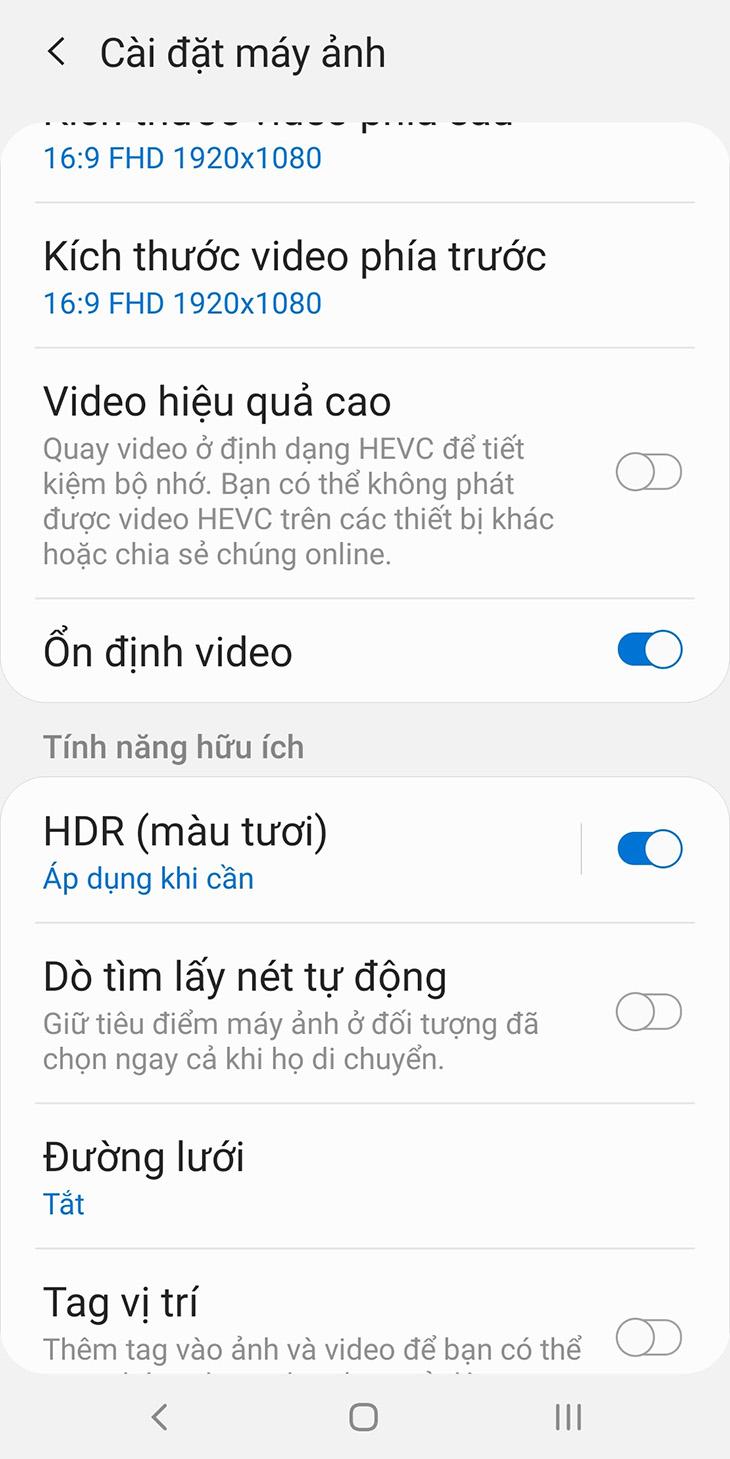 Cài đặt HDR trên android
