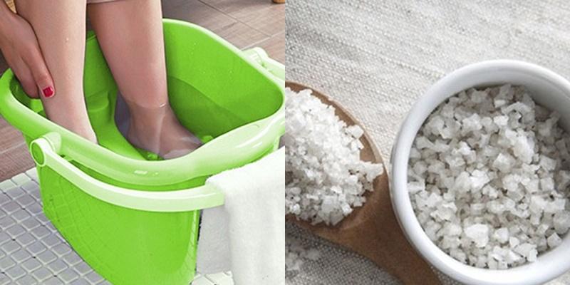 Công thức ngâm chân với muối