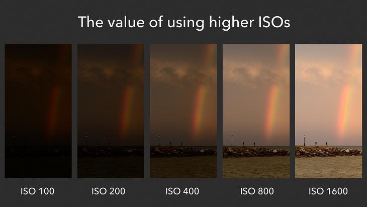 ISO cao ảnh sáng nhưng nhiễu hạt