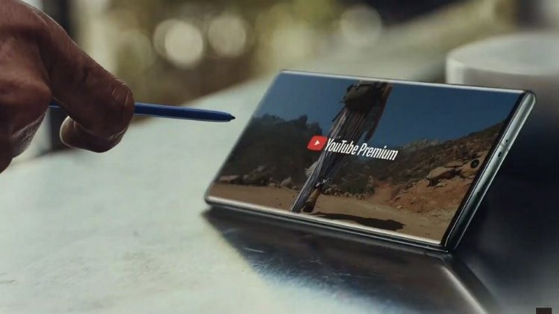 Bút S Pen của Galaxy Note 10 được tích hợp vào ứng dụng YouTube