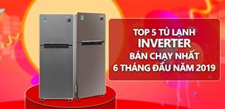 Top 5 tủ lạnh Inverter bán chạy nhất 6 tháng đầu năm 2019