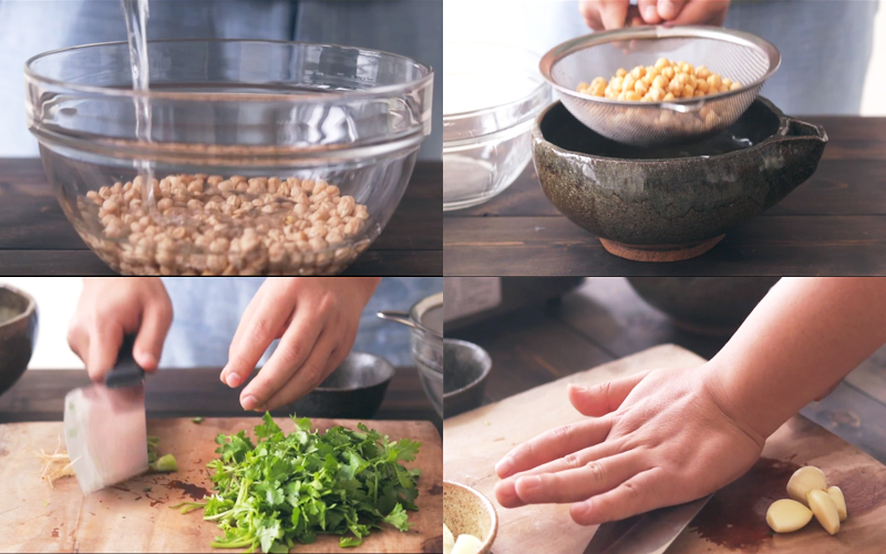 Cách làm chả đậu gà chiên, trong mềm ngoài giòn rụm