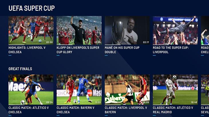 Hướng dẫn xem các giải bóng đá quốc tế qua UEFA TV