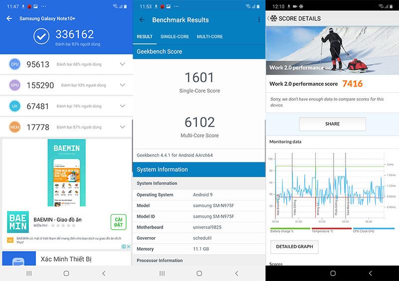 Đánh giá hiệu năng Galaxy Note 10+