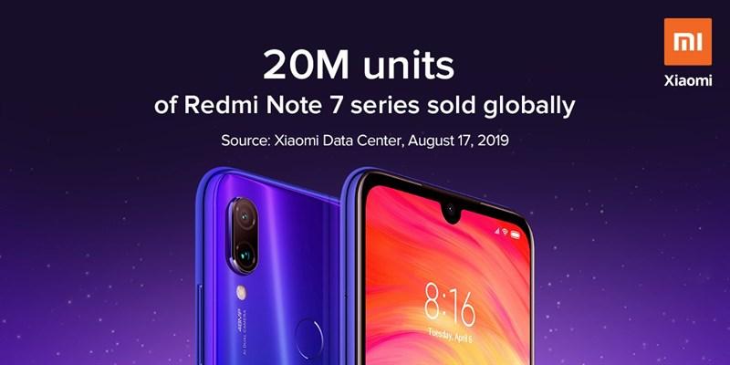 Dòng Redmi Note 7 đã bán được hơn 20 triệu chiếc trên toàn cầu - ảnh 2