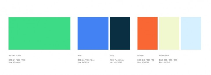 Màu sắc Android