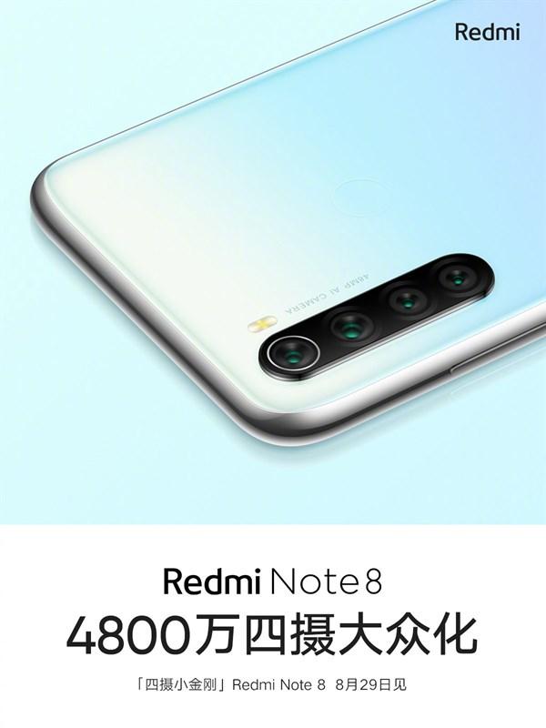 Redmi Note 8 có 4 camera sau