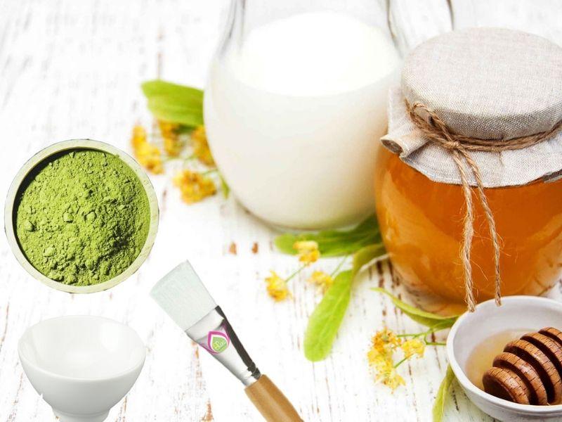 Cách làm mặt nạ trà xanh mật ong sữa tươi diệt sạch mụn