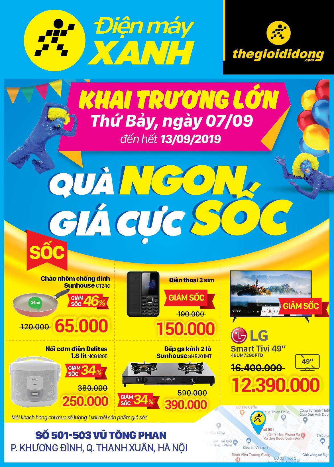Khai trương Siêu thị Điện máy XANH Vũ Tông Phan, Thanh Xuân, Hà Nội