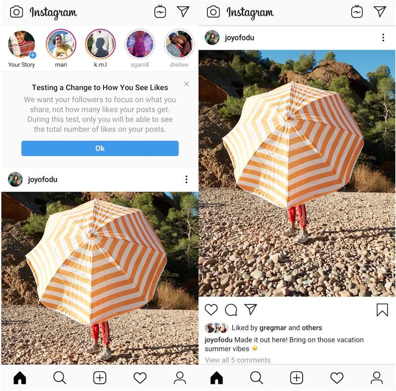 Instagram đang thử nghiệm ẩn số lượng Like và Facebook có thể sẽ sớm làm điều tương tự