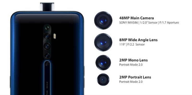 OPPO Reno 2Z có thiết kế camera selfie pop-up giống như trên OPPO F11 Pro