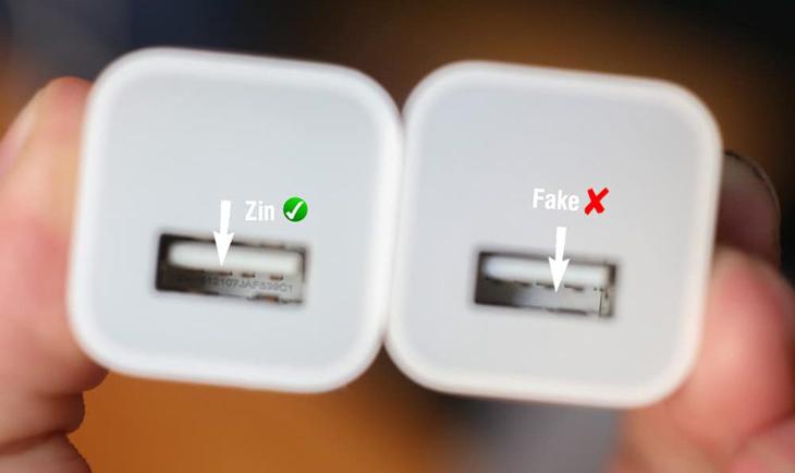 Cách kiểm tra củ sạc iPhone chính hãng 2
