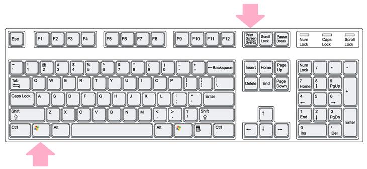 Nhấn tổ hợp phím Window và phím Print Screen