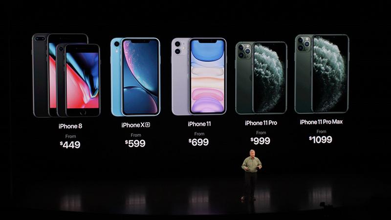 Giá bán iPhone 11, iPhone 11 Pro, iPhone 11 Pro Max, iPhone 8 và Xr giảm giá
