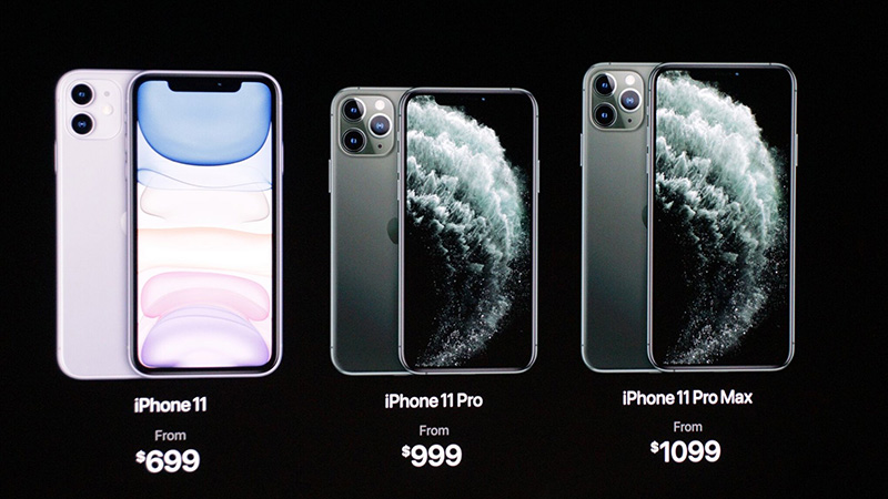 Giá bán iPhone 11, iPhone 11 Pro, iPhone 11 Pro Max