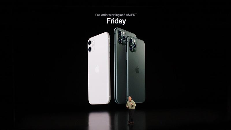 Ngày đặt hàng iPhone 11