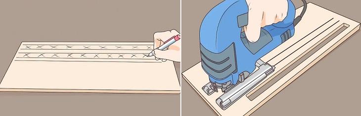 tạo các khe gắn bộ lọc