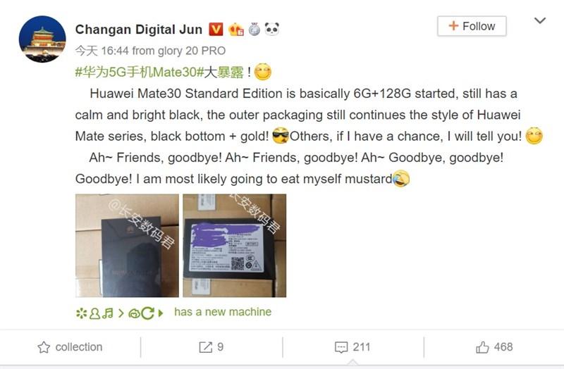 Hộp bán lẻ của Huawei Mate 30 tiết lộ nhiều thông tin thú vị - ảnh 2