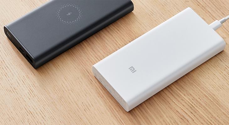 Xiaomi 10000mAh với hai màu trắng và đen