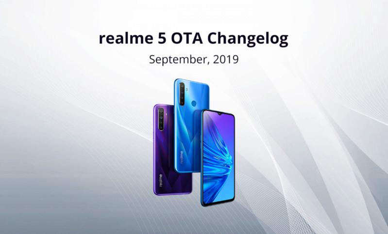 Realme 5 cập nhật