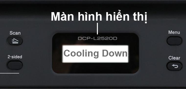 Màn hình báo lỗi Cooling Down
