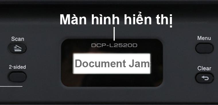 Màn hình báo Document Jam
