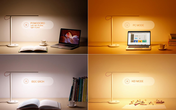 4 chế độ sáng trên đèn bàn thông minh Xiaomi