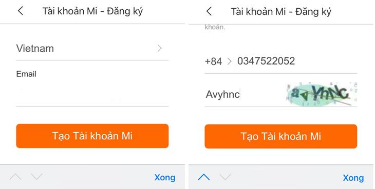 Điền số điện thoại hoặc mail