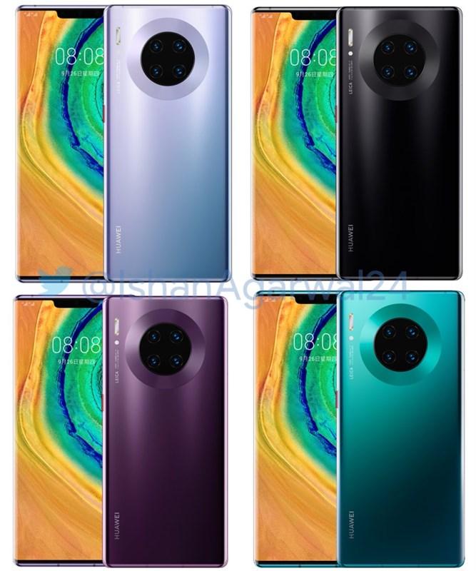 Huawei Mate 30 Pro lộ sạch cấu hình, thiết kế và màu sắc